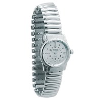 REIZEN Braille Womens Watch -Chrome, Exp. Band