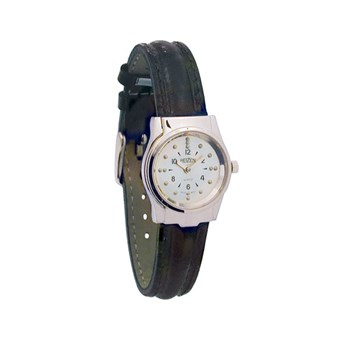 REIZEN Braille Womens Watch -Chrome, Leather Band