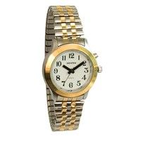 Talking Watch-Ladies-2 Voices-Bi-Color-Expans Band