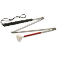 Ambutech Alum 4-Sec Folding Cane-Jumbo Roller-42in