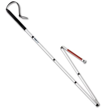 Ambutech Folding Slim Line Graphite ID Cane- 58-in
