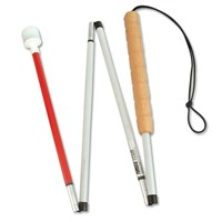 Graph 4-Sec Folding Cane-Wood Grip-Roller-52-in