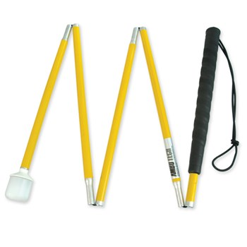 Yellow Alum 5-Sec Folding Cane-Marshml Roller-60in