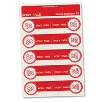 Clothing Tags for Foxy Reader Talking Label Reader - Set 2 - 5 Tags