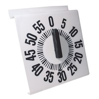 Ergonomic Long Ring Low Vision Timer - White Dial