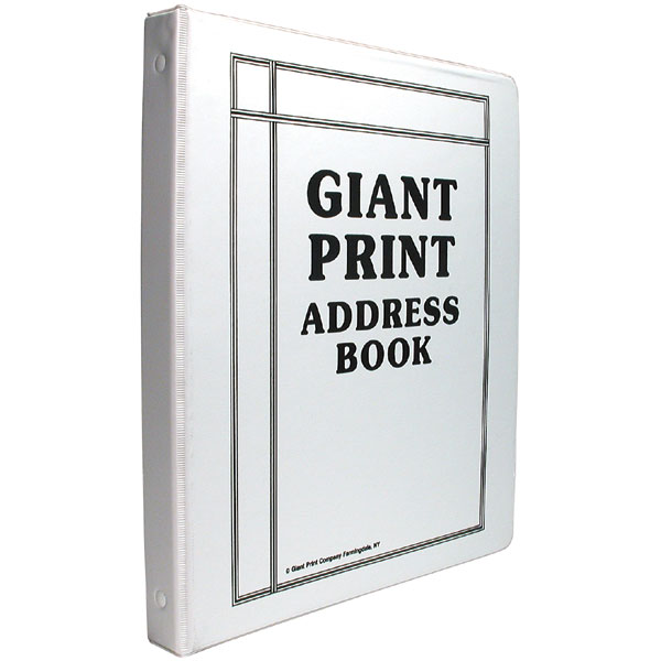 maxiaids giant print address book