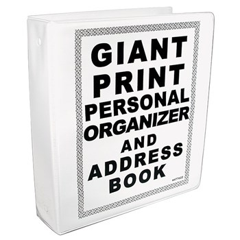 Giant Print Personal Organizer and Address Book