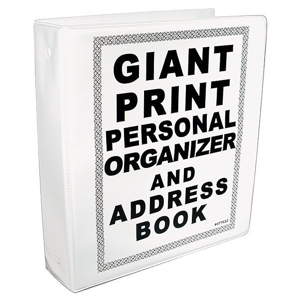 maxiaids giant print personal organizer and address book