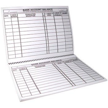 Large Print Check Deposit Register