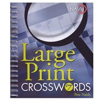 Large Print Crosswords No. 7 for Low Vision