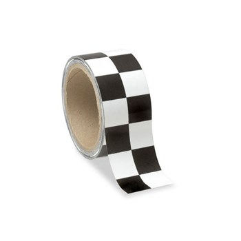 Low Vision Checkerboard Tape- White and Black - 2-In. Wide