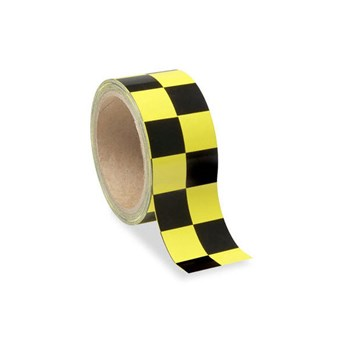 Low Vision Checkerboard Tape- Yellow and Black - 2-In. Wide