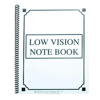 Low Vision Notebook - Bold Lines -White Paper