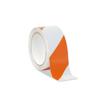 Low Vision Reflective Tape- White and Orange Striped