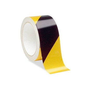 Low Vision Reflective Tape- Black and Yellow Striped