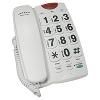 Picture of REIZEN Big Button Speaker Phone - White with Black Numbers
