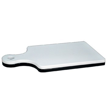 Reizen Low Vision Black and White Paddle Cutting Board