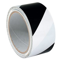 Striped Warning Tape - White and Black Stripe
