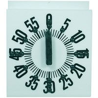 Tactile Ergonomic Long Ring Low Vision Timer-White