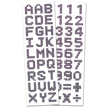 Tactile Identifying Crystals Letters and Numbers Combo Pack - Black