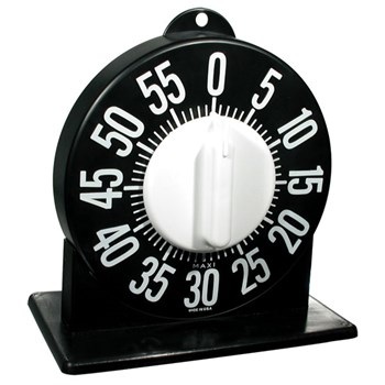 Tactile Short Ring Low Vision Timer With Stand - Black Dial