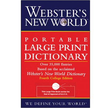 Websters New World Portable Large Print Dictionary