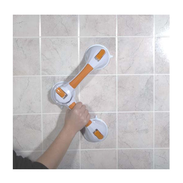 MaxiAids | Multi-Position Suction Cup Grab Bar for Bath Safety