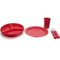 Dinnerware in High-Contrast Red Color- 6-Piece Set