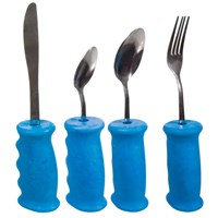 Gripeez 4-Piece Utensil Set with Built-Up Grip