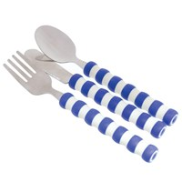 The Gripables Utensil Set- Blue and White