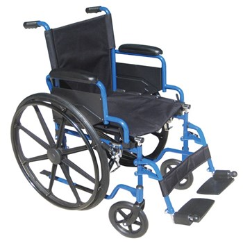 Blue Streak Wheelchair with Arms and Footrests