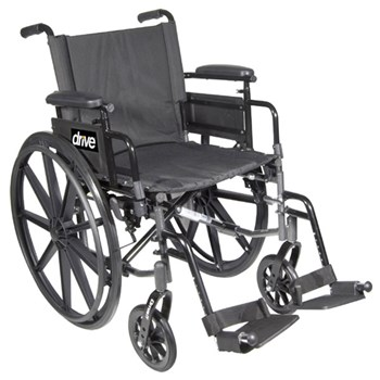 Cirrus IV Wheelchair 18-in Seat Flip Back Full Arm Elevating Leg Rests