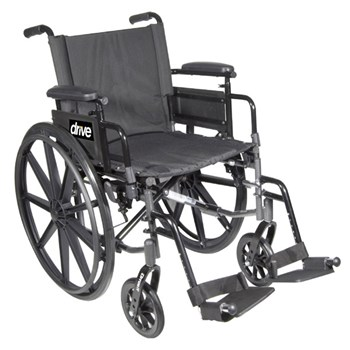 Cirrus IV Wheelchair 20-in Seat Flip Back Full Arm Elevating Leg Rests
