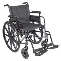 Cirrus IV Wheelchair 20-in Seat Flip Back Full Arm Swing-Away Footrest