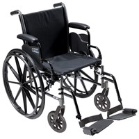 Cruiser III Light Weight Wheelchair with Various Flip Back Arm Styles and Front Rigging Options