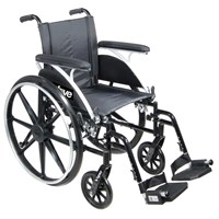 Viper Wheelchair 12-in Seat Flip Back Desk Arm Elevating Leg Rests