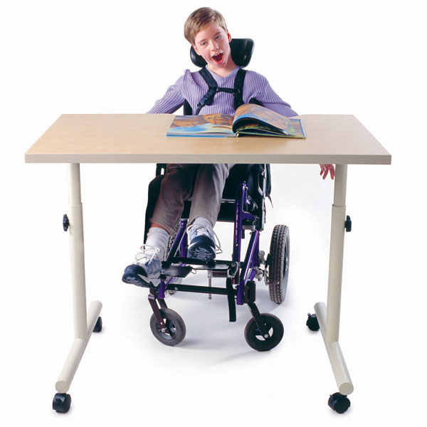 MaxiAids : Wheelchair Accessible Table with Knob Adjustment