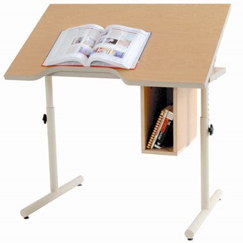 Wheelchair Accessible Table-Adjustable Height-Tilt with Front Edge