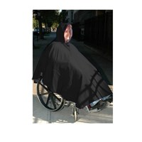 Wheelchair Winter Poncho-Unisex-Adult-Black