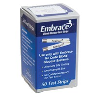 Embrace Blood Glucose Test Strips- 50 Strips