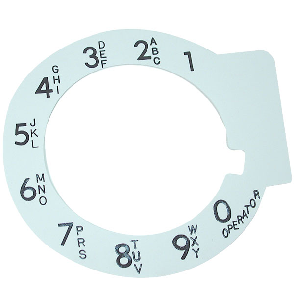 Large Print Rotary Telephone Dial Overlay