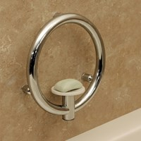 Invisia Soap Dish with Support Rail- Chrome