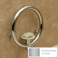 Invisia Soap Dish with Support Rail- Nickel