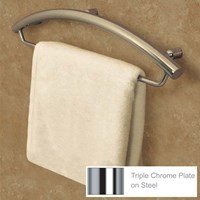 Invisia Towel Bar-Support Rail - 16-in.- Chrome