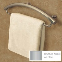 Invisia Towel Bar-Support Rail - 16-in.- Nickel