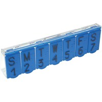 Braille Pill Box - Blue
