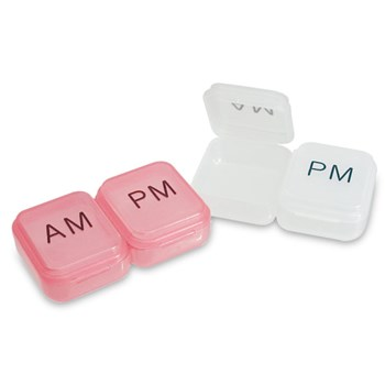 Compact AM-PM Pill Box -Package of 2