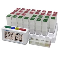 Talking Monthly Medication Organizer Alarm-Low Profile