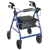 Picture of Aluminum Rollator - Blue, 4 Wheel, 8 inch Casters w Loop Lock