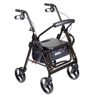 Drive Duet Transport Chair and Rollator - Black